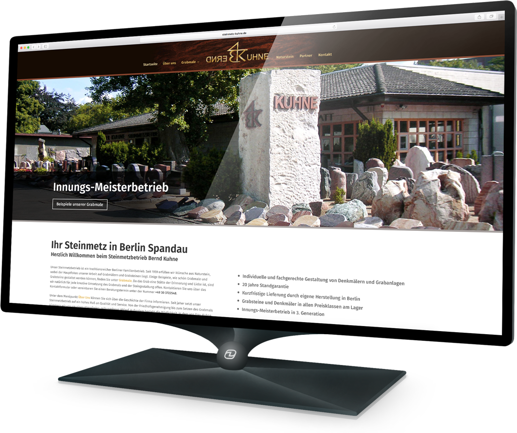 Webdesign Steinmetz Kuhne (Demski Design)