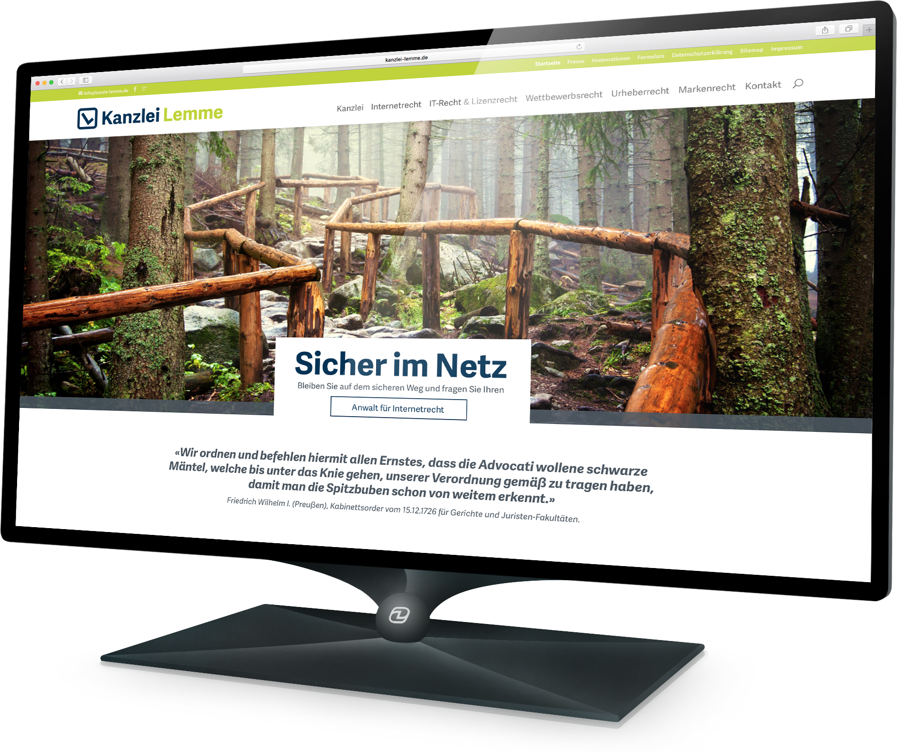 Webdesign Kanzlei Lemme (Demski Design)