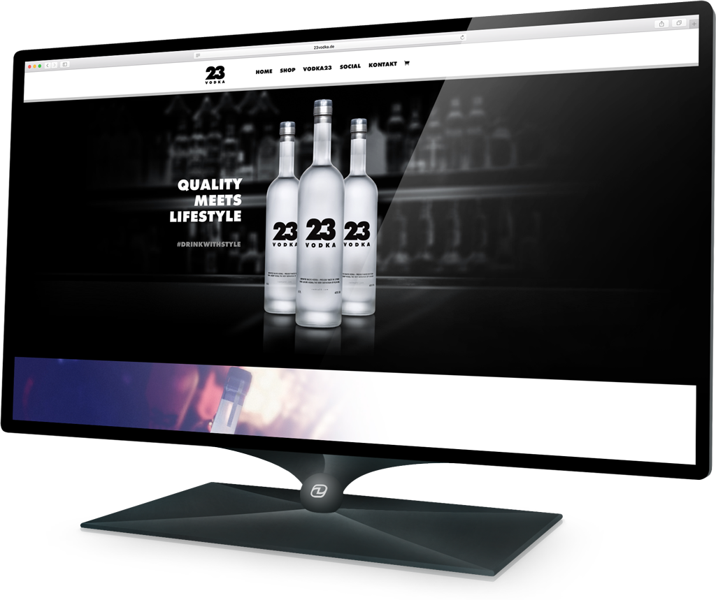 Webdesign VODKA23 (Demski Design)