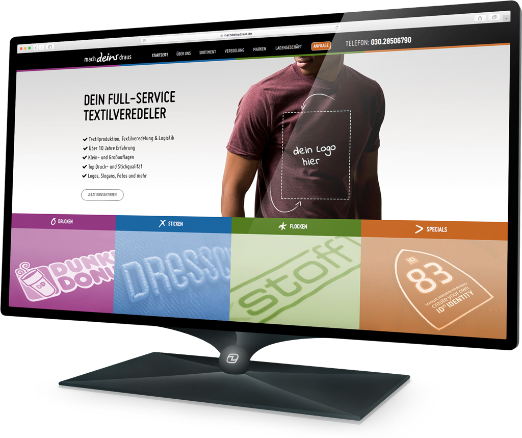 Webdesign MACH DEINS DRAUS (Demski Design)
