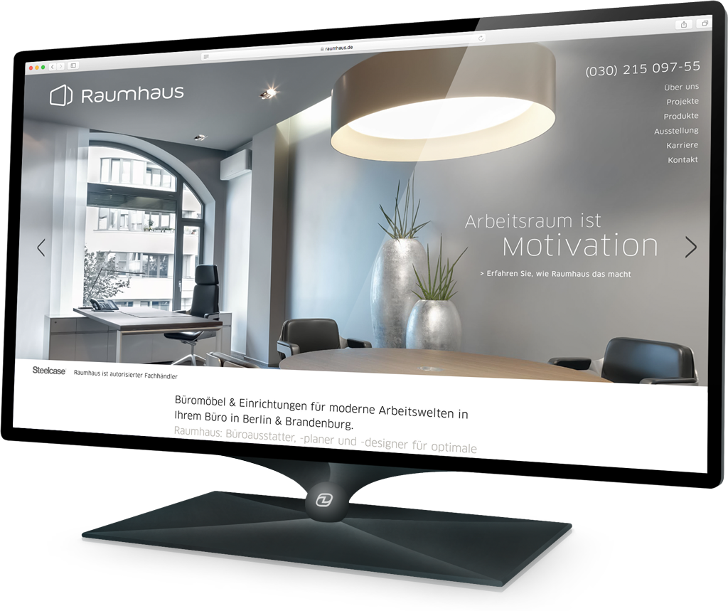 Webdesign Raumhaus (Demski Design)